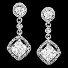 Sparkling diamonds chandelier earrings 3.50 carat diamond earring