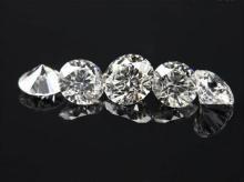 1 carat round diamond parcel sparkling loose diamond F VS 0.50 carats