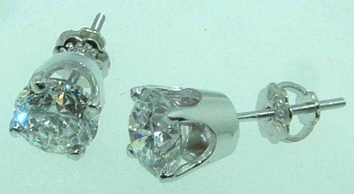 F VS1 2.51 ct. DIAMOND STUDS EARRING studs earrings