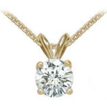 Gorgeous Necklace 0.75 ct. diamonds pendant & chain necklace yellow gold