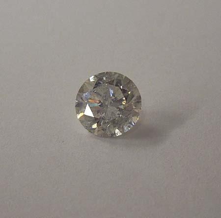 F VS1 round cut loose diamond 1.06 carat heart & arrows