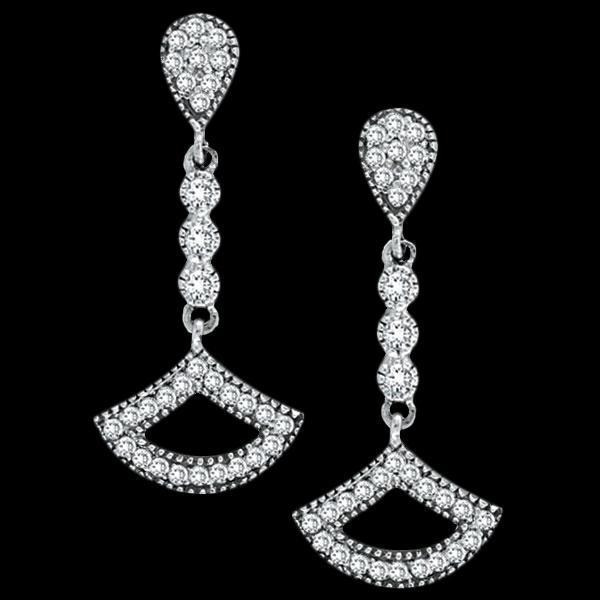 Diamonds chandelier earrings 2.5 carat diamond hanging earring white gold