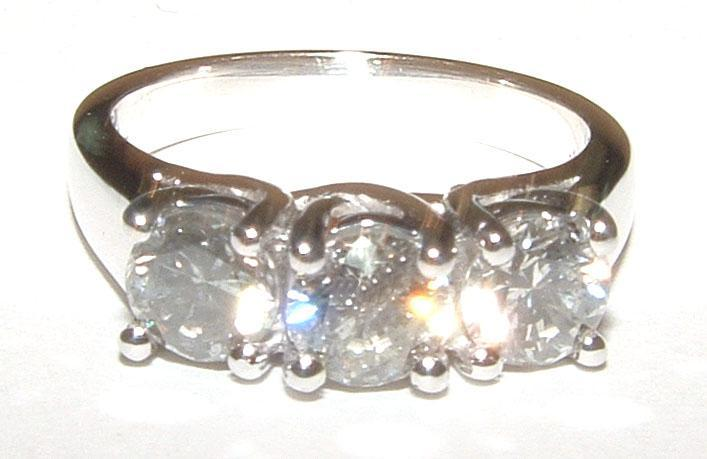 Diamonds ENGAGEMENT RING 3 STONE DIAMOND jewelry 2.15 carat