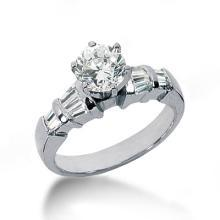 Diamonds engagement ring baguette diamonds 2.75 cts.