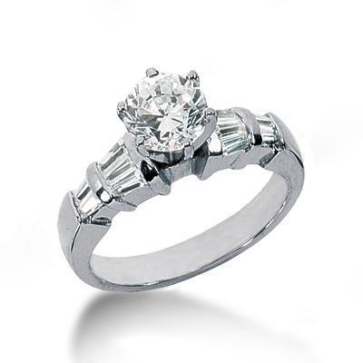 Diamonds engagement ring baguette diamonds 2.75 cts.