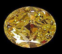 Fancy yellow canary loose diamond 2.50 ct. oval cut