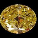 Fancy yellow canary loose diamond 2.50 ct. oval cut