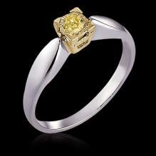 1 ct. yellow canary diamond solitaire engagement ring