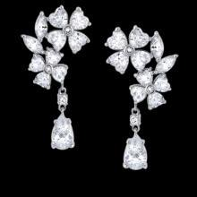 Pear & pear diamonds 2.5 carat earring chandelier diamond ear ring