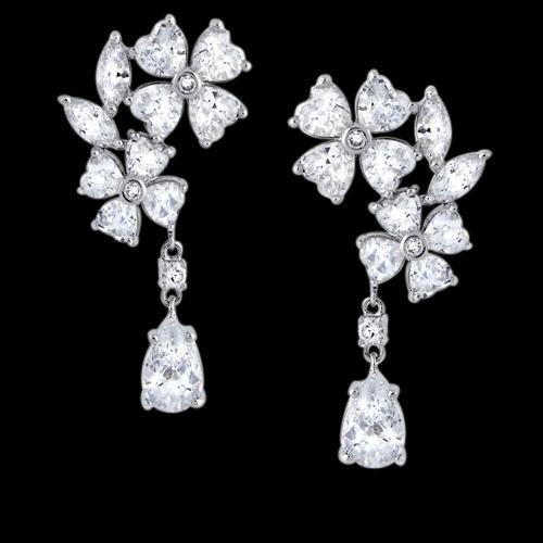 Pear & pear diamonds 2.5 carat earring chandelier diamond ear ring