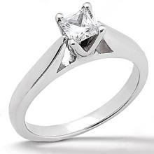 0.75 carat G SI1 princess diamond solitaire engagement ring gold white