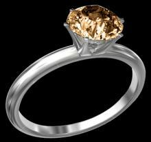 0.90 carat solitaire ring gold new natural brown diamond