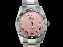 Pink dial rolex datejust watch bezel diamond pearlmaster oyster prepetual