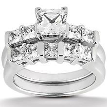 1.51 ct. diamond princess cut ring band white gold