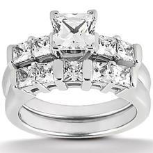 1.51 ct. diamond princess cut ring band white gold