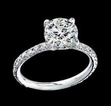 1.51 ct. diamond ring solitaire with accents gold new