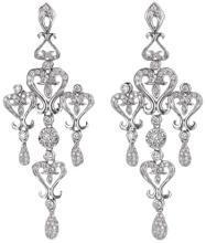 Chandelier diamond earring 6 carat diamonds long hanging earrings gold