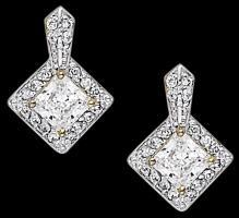 Princess diamond studs 2.50 carat earrings diamond stud earring