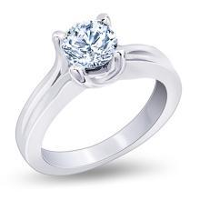 Large huge diamond ring F VS1 diamond solitaire ring 2.25 carat white gold