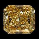 Radiant cut 1 carats brown loose diamond