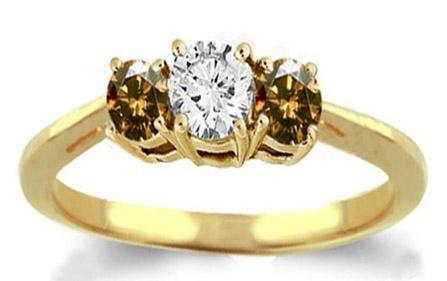sparkling champagne & white diamonds wedding ring new