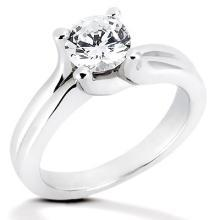 Sparkling diamond ring 2.51 carat solitaire ring white gold