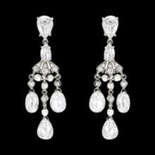 Chandelier diamonds 2.50 carat earring pair white gold ear rings