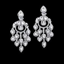 Chandelier diamonds earring hanging white gold 4.50 carat diamond ear ring