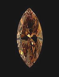 Chocolate brown diamond marquise cut 2 carat loose