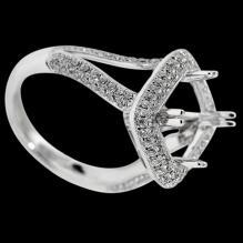 1.75 carats Real semi mounting beautiful diamond ring mount ring