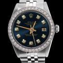 Rolex blue diamond dial bezel datejust men watch SS jubilee bracelet rolex