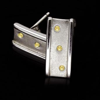 Push back Yellow canary diamonds 0.50 ct. earrings jewelry