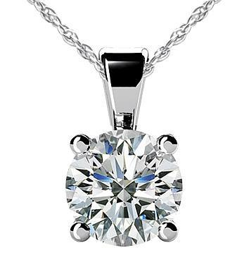 2.51 Ct. F VS1 Diamond pendant with chain necklace gold