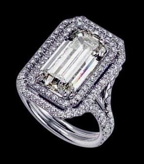 3 ct. diamonds royal engagement ring emerald center