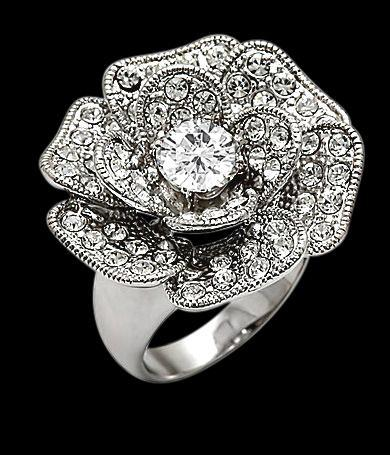 5 carat rose flower style diamond engagement ring gold
