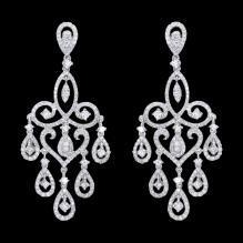 5 carat diamonds chandelier earrings white gold women jewelry dangling ear ring