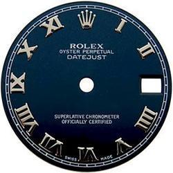 Blue roman dial for ladies rolex datejust watch dial