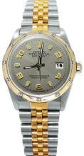 Gray Arabic dial pearl master diamond bezel rolex date just watch