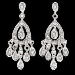 4.5 carat diamonds chandelier earrings white gold jewelry women ear ring