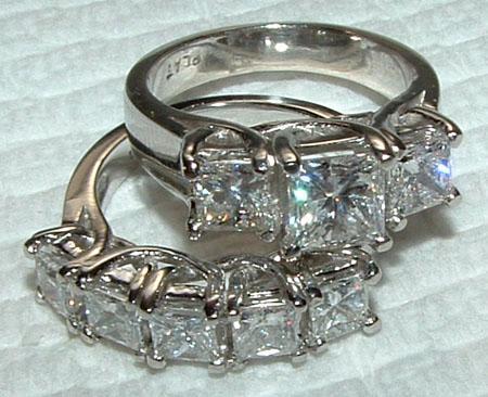 4.5 carat WHITE GOLD DIAMOND RING wedding band SET new