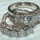 4.5 carat WHITE GOLD DIAMOND RING wedding band SET new