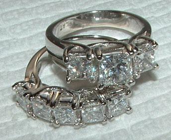 4.5 ct. WHITE GOLD F VVS1 DIAMOND RING wedding band