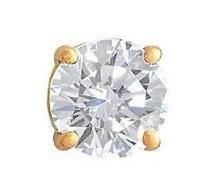 F VS1 diamond 1.25 ct. Mens single diamond stud earring