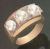 3 carat DIAMOND RING YELLOW GOLD BIG real