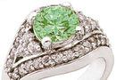 2.84 carat GENUINE EMERALD diamond white gold