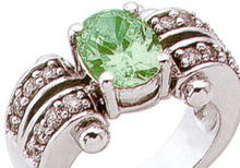 Vintage Estate inspired DIAMOND EMERALD ring