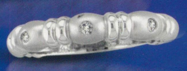 White gold 14K diamonds 0.05 carat anniversary ring band