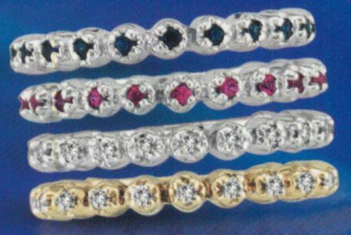 Yellow gold 14K diamonds 0.20 carat engagement band jewelry