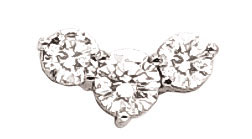 3.5 carat G VS1 3 stone DIAMOND PENDANT