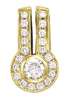 2.5 carat G SI1 diamond pendant slide omega